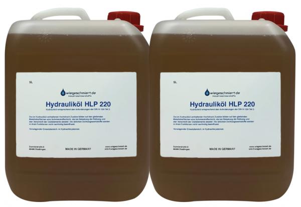 Hydrauliköl HLP 220 (2 x 5 Liter Kanister)