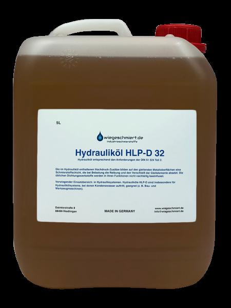 Hydrauliköl HLP-D 32 nach DIN 51 524 Teil 2