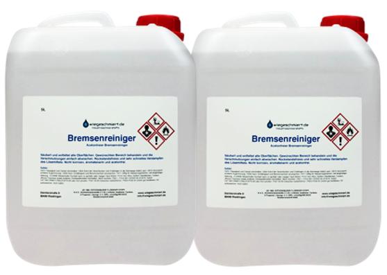 Bremsenreiniger acetonfrei (2 x 5 Liter Kanister)