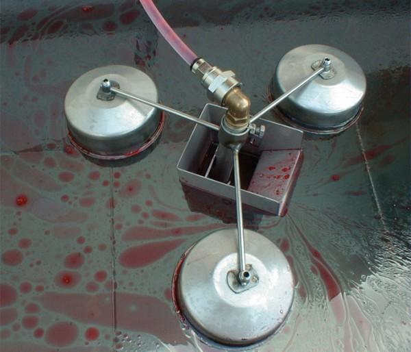Schwimmender Wippsauger m/3 Ø 110 mm Kugeln, E, 10 mm