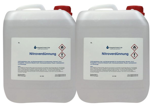 Nitroverdünnung (2 x 5 Liter Kanister)