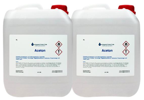 2 x 5 Liter Aceton 99,5 %
