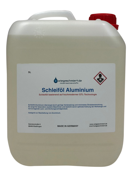 Schleiföl Aluminium