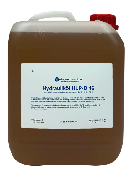 Hydrauliköl HLP-D 46 nach DIN 51 524 Teil 2