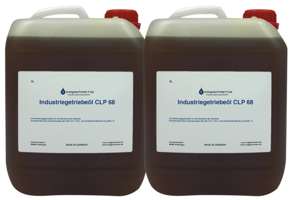 Industriegetriebeöl CLP 68 (2 x 5 Liter Kanister)