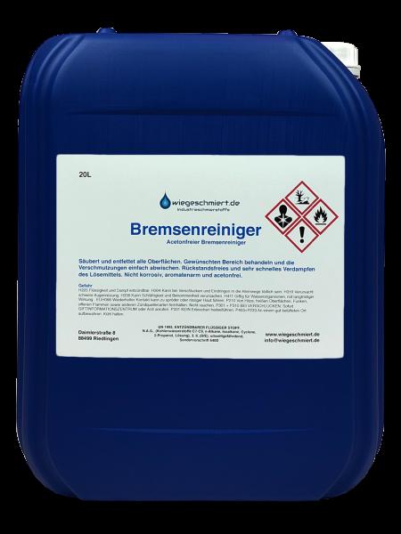 Bremsenreiniger acetonfrei 20 ltr. Kanister