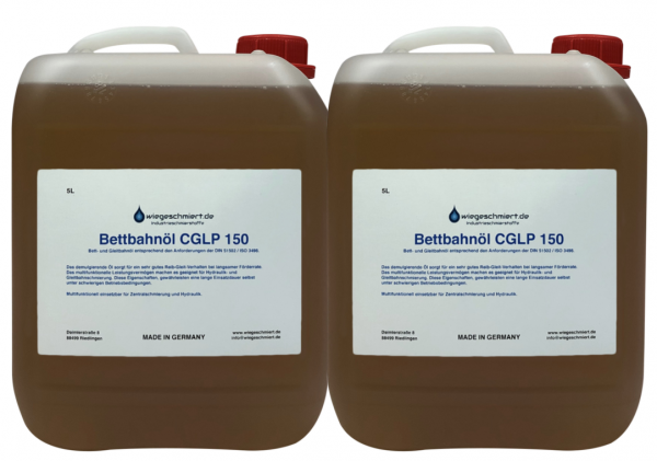 Bett- und Gleitbahnöl CGLP ISO VG 150 (2 x 5 Liter Kanister)