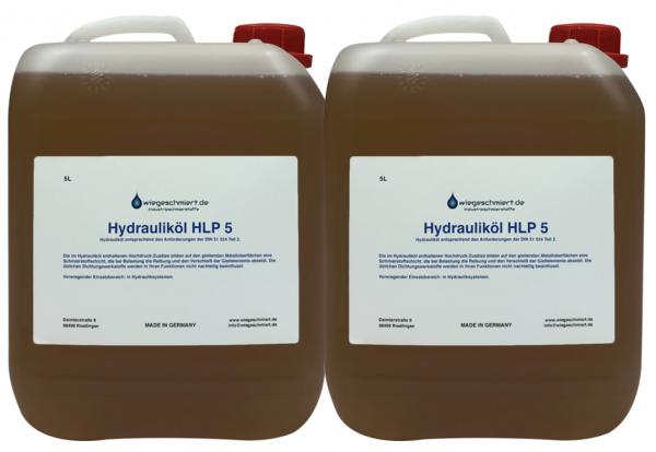 Hydrauliköl HLP 5 (2 x 5 Liter Kanister)