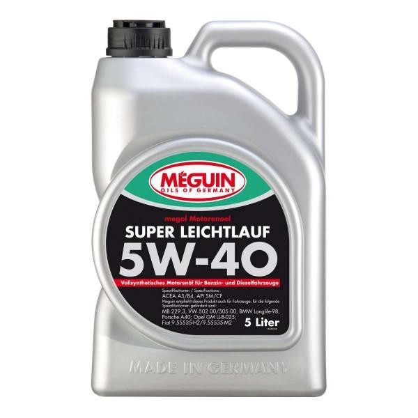 Megol Super Leichtlauf 5W-40 vollsynthetisch (5 Liter Kanister)
