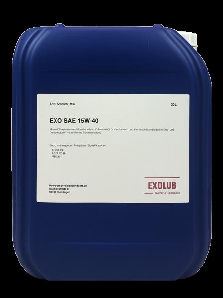 EXO SAE 15W-40 Motorenöl (20 Liter)