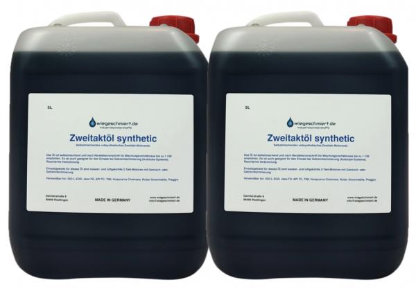 Zweitaktöl vollsynthetisch (2 x 5 Liter Kanister)