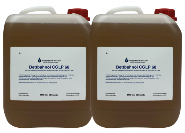 Bett- und Gleitbahnöl CGLP ISO VG 68 (2 x 5 Liter Kanister)