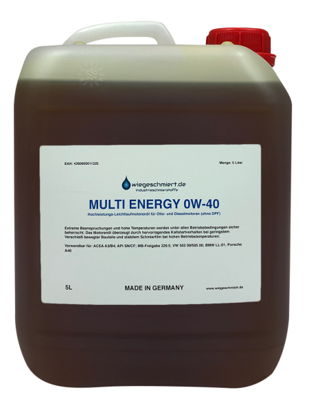 MULTI ENERGY 0W-40 Motorenöl