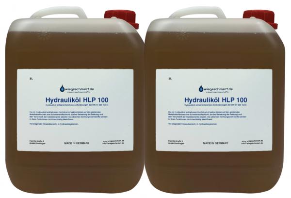 Hydrauliköl HLP 100 (2 x 5 Liter Kanister)