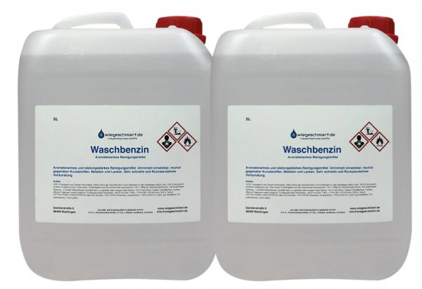 Waschbenzin (2 x 5 Liter Kanister)